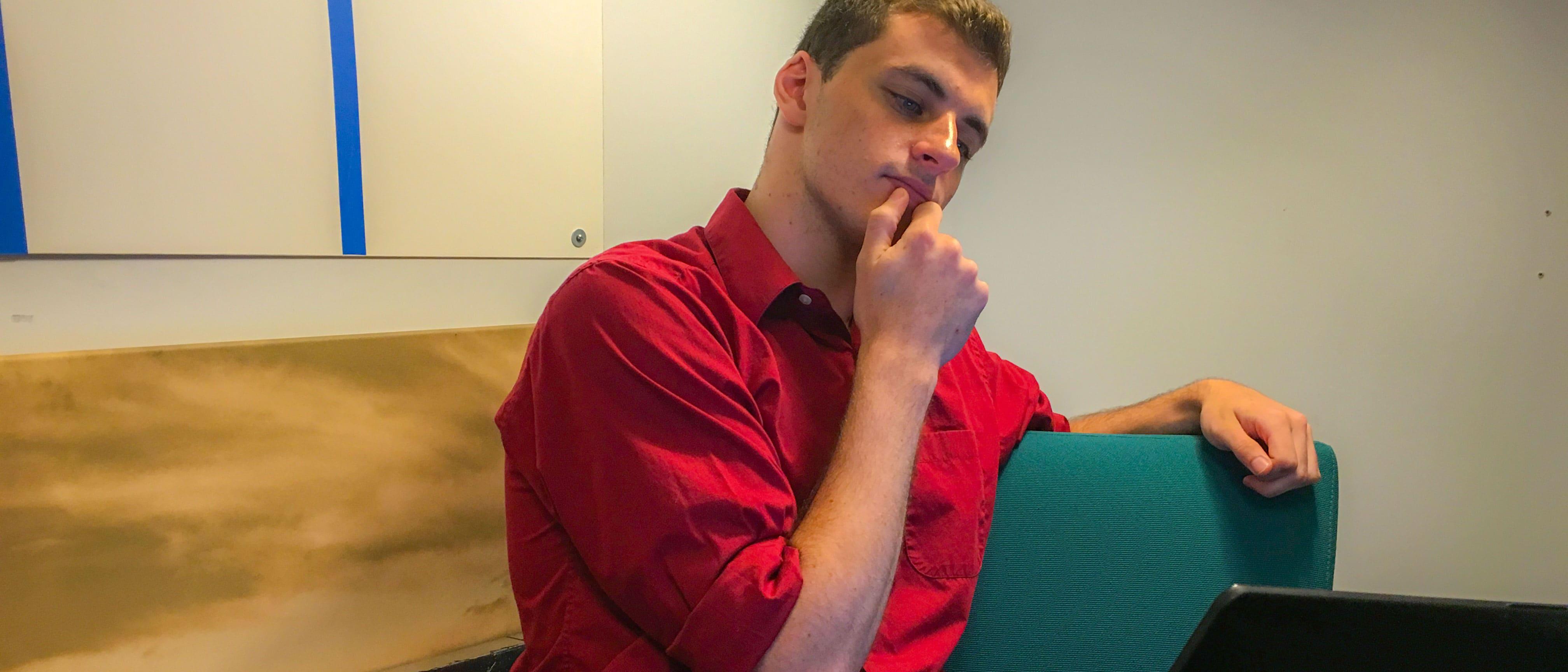 Kyle Conroy, Storyboard Media Intern, Thinking